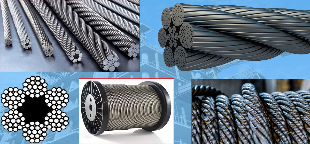 Wire rope from different angles